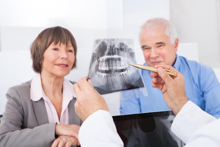 Looking at denture xray